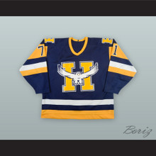 Eric Moreau 71 Beauport Harfangs Blue Hockey Jersey