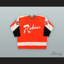 Willie Brossart 25 Richmond Robins Orange Hockey Jersey