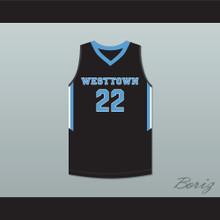 Cam Reddish 22 Westtown School Moose Black Basketball Jersey 2