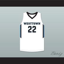 Cam Reddish 22 Westtown School Moose White Basketball Jersey 1