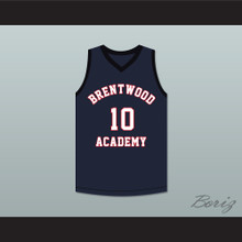 Darius Garland 10 Brentwood Academy Eagles Navy Blue Basketball Jersey 2