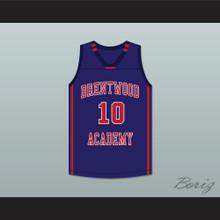 Darius Garland 10 Brentwood Academy Eagles Dark Blue Basketball Jersey 1