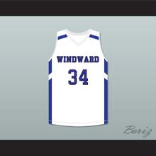 Shareef O'Neal 34 Windward School Wildcats White Basketball Jersey 2