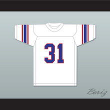 Dana White 31 High School White Football Jersey 2