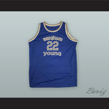 Danny Ainge 22 Brigham Young Blue Basketball Jersey