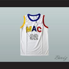 Mac Miller 92 White Basketball Jersey