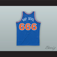 MGK 666 RAP DEVIL Old School Blue Basketball Jersey