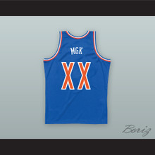 MGK XX Old School Blue Basketball Jersey