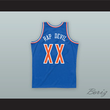 MGK XX RAP DEVIL Old School Blue Basketball Jersey