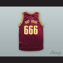 MGK 666 RAP D3VIL Maroon Basketball Jersey