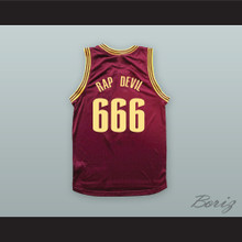 MGK 666 RAP DEVIL Maroon Basketball Jersey