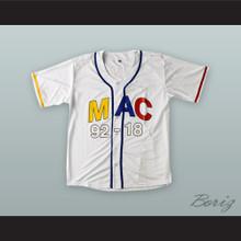 Mac Miller 92 White Baseball Jersey