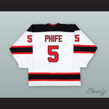 Phife Dawg 5 OMG White Hockey Jersey