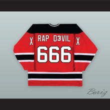 MGK RAP D3VIL 666 XX Red Hockey Jersey