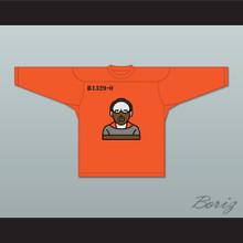 Hannibal Lecter B1329-0 Orange Hockey Jersey