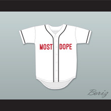 Mac Miller 1 Most Dope White Baseball Jersey 4