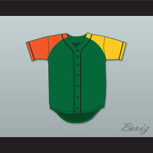 Fresh Prince Green/Orange/Yellow Baseball Jersey Alternate