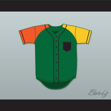 Will Smith 14 Fresh Prince Green/Orange/Yellow Baseball Jersey