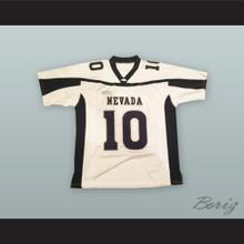 Colin Kaepernick 10 Nevada White Football Jersey