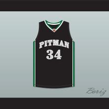 Colin Kaepernick 34 John H. Pitman High School Pride Black Basketball Jersey 2