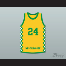 Mark Aguirre 24 George Westinghouse College Prep Warriors Basketball Jersey 2