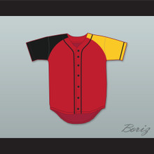 Air Fresh Fresh Prince Red/Black/Yellow Baseball Jersey