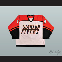 Dean Youngblood 10 Stanton Flyers High School White Hockey Jersey