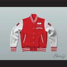 Derek Sutton 9 Hamilton Mustangs Varsity Letterman Jacket-Style Sweatshirt