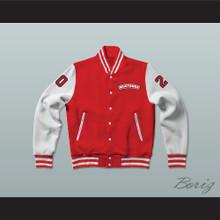 Heaver 20 Hamilton Mustangs Varsity Letterman Jacket-Style Sweatshirt