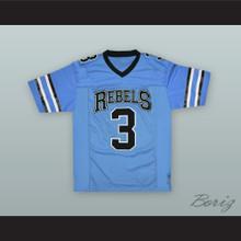 Kareem Hunt 3 South High School Rebels Light Blue Football Jersey