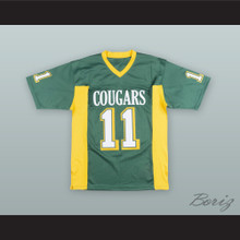 Russell Wilson 11 Collegiate School Cougars Green Football Jersey