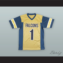 Stefon Diggs 1 Our Lady of Good Counsel High School Falcons Gold Football Jersey