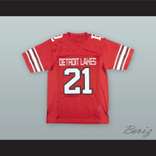 Adam Thielen 21 Detroit Lakes High School Lakers Red Football Jersey