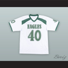 Braxton Miller 40 Eagles High School White Football Jersey