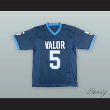 Christian McCaffrey 5 Valor Christian High School Eagles Blue Football Jersey