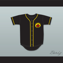 Nick Cannon 1 All That Button Down Black Baseball Jersey