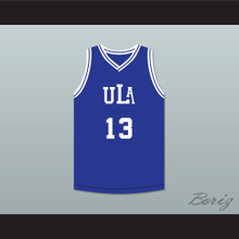 Jackie Ames 13 ULA University of Los Angeles Fighting Peacocks Blue Basketball Jersey 2