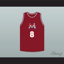 Rui Hachimura 8 Meisei High School Maroon Basketball Jersey 2
