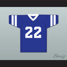 Hank Farley 22 ULA University of Los Angeles Fighting Peacocks Blue Football Jersey 1