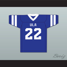 Hank Farley 22 ULA University of Los Angeles Fighting Peacocks Blue Football Jersey 3