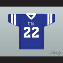 Hank Farley 22 ULA University of Los Angeles Fighting Peacocks Blue Football Jersey 4