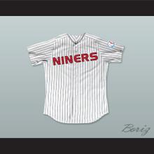 Lieutenant Ezri Dax 43 Deep Space Niners White Pinstriped Baseball Jersey