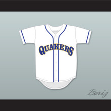 Barry Goldberg 12 William Penn Academy Quakers White Baseball Jersey