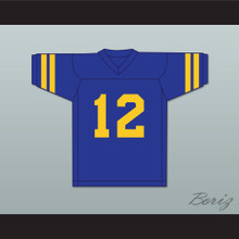 Barry Goldberg 12 William Penn Academy Quakers Blue Football Jersey
