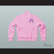 Omega Mu Sorority Varsity Letterman Jacket-Style Sweatshirt