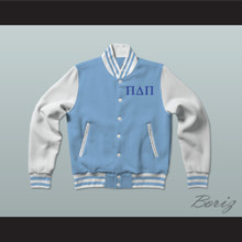 Pi Delta Pi Sorority Varsity Letterman Jacket-Style Sweatshirt