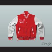 Grand Lakes University Hooters Red Varsity Letterman Jacket-Style Sweatshirt