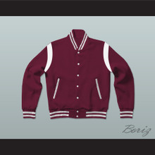 Marcus Burnett Bad Boys Maroon Varsity Letterman Jacket-Style Sweatshirt