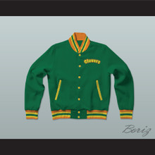 East Compton Clovers Green Varsity Letterman Jacket-Style Sweatshirt