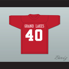 Grand Lakes University Hooters Red Football Jersey Back to School